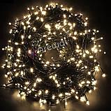 Новогодняя гирлянда 100 LED, Длина 8M, Белый холодный свет,кабель 2,2 мм, фото 5