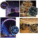 Новогодняя гирлянда 100 LED, Длина 8M, Белый холодный свет,кабель 2,2 мм, фото 7