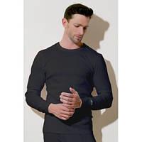 Хлопковая мужская футболка с длинным рукавом Henderson 2149 (белый, черный, серый) М, Белый