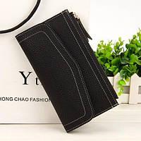 Клатч гаманець жіночий чорний N1565Bl, фото 1