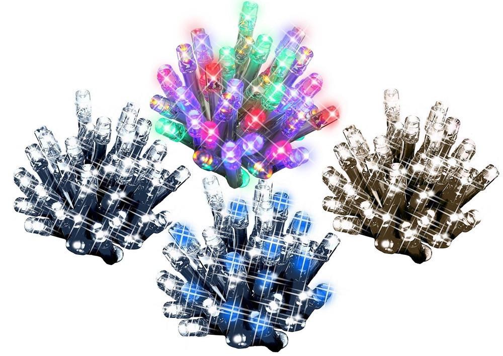 Новогодняя гирлянда 100 LED, IP44, Длина 7 М, кабель 2,4мм