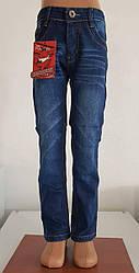 Брюки джинс мальчик флис 5-13 лет.