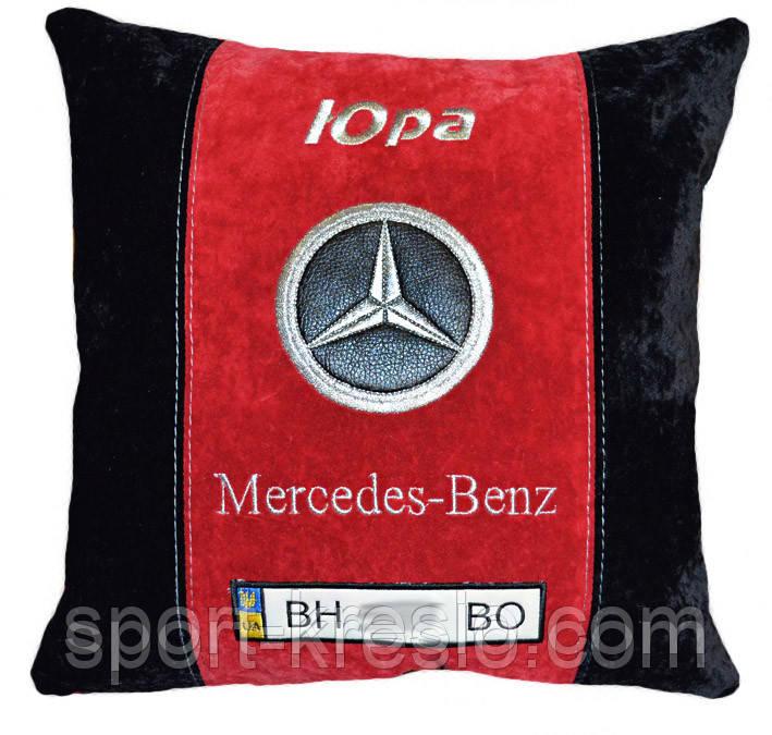 Подушка сувенирная с маркой авто мерседес Mercedes