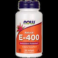 Поддержка женского здоровья - Е-400 (d-альфа-токоферилацетат) / NOW - E - 400 (100 softgels)