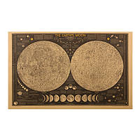 Географическая карта Луны, винтажная 70см *44см