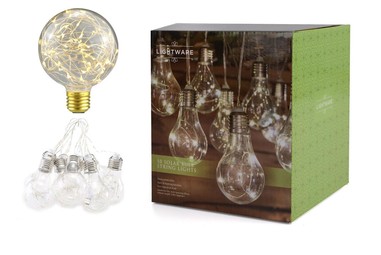 """Новогодняя гирлянда """"Лампы Едисона"""" 100 LED IP44"""