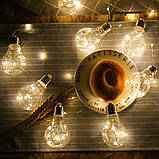 """Новогодняя гирлянда """"Лампы Едисона"""" 100 LED IP44, фото 4"""