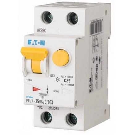 Дифференциальный автоматический выключатель PFL7-25/1N/C/003 (263549) Eaton, фото 2