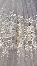 Тюль фатин турецкий Лилия 256 крем, фото 3