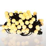 Новогодние шарики 100LED,  белый теплый свет, фото 2