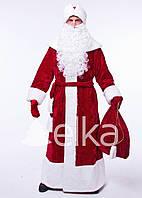 Новогодний Костюм Деда Мороза мрамор БОРДО