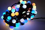 Новогодняя гирлянда 100 LED / 10 м, Разноцветный свет, фото 3