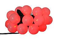 Новогодняя гирлянда 20LED, Длина 4m, Красный свет