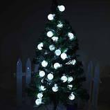 Новогодняя гирлянда 20 LED, Белый холодный свет, 5 м, фото 2