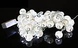 Новогодняя гирлянда 30 LED, Длина 7 М, Белый теплый свет, фото 4