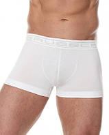 Бесшовные укороченные хлопковые шорты боксеры  BRUBECK BX10050A (Черный, белый, серый, синий, салатов) Белый, XXL