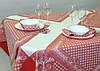 """Льняной столовый комплект """"Принцесса"""" на 6 персон (скатерть 150 на 150 см)"""