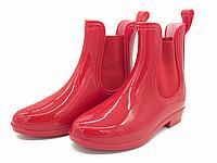 Резиновые сапоги для девочек красные 30-35 размер