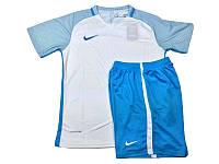 Футбольная форма игровая Nike (Найк бело-голубая)