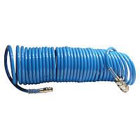 Шланг спиральный полиуретановый 5.5 * 8 мм 10м Intertool  PT-1707