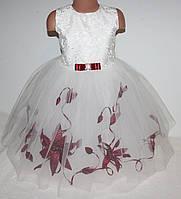 Красивое нарядное платье для девочки 2-6 лет  ( на молнии)