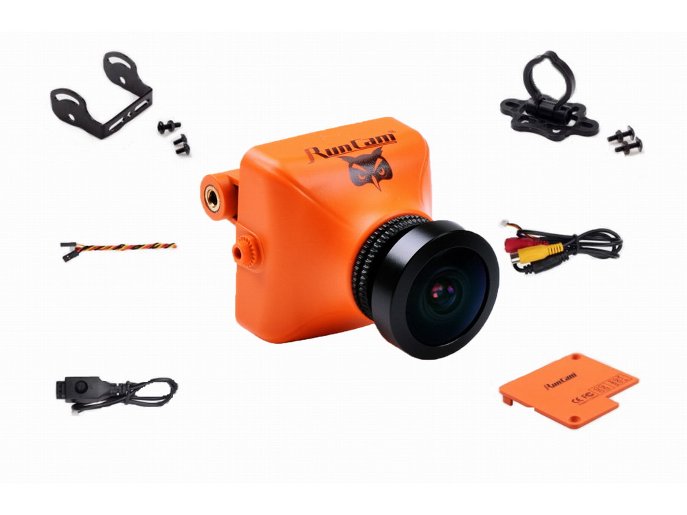 Камера fpv runcam owl plus tvl ° v курсовая оранжевый   Камера fpv runcam owl plus 700tvl 150° 5 22v курсовая оранжевый