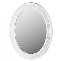 Подвесное-настенное овальное зеркало ( белое  )