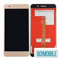 Дисплей + сенсор (модуль) Huawei Honor 5A, Y6 II CAM-L21 Y6-2 CAM-AL00 золотистый