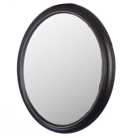 Подвесное-настенное овальное зеркало ( темная бронза )
