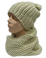 Комплект шапка + шарф зимний женский