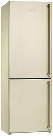 Отдельностоящий холодильник Smeg FA860PS кремовый