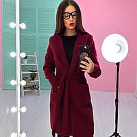 Пальто женское модное с отложным воротником из кашемира на флисе разные цвета 6Gb211