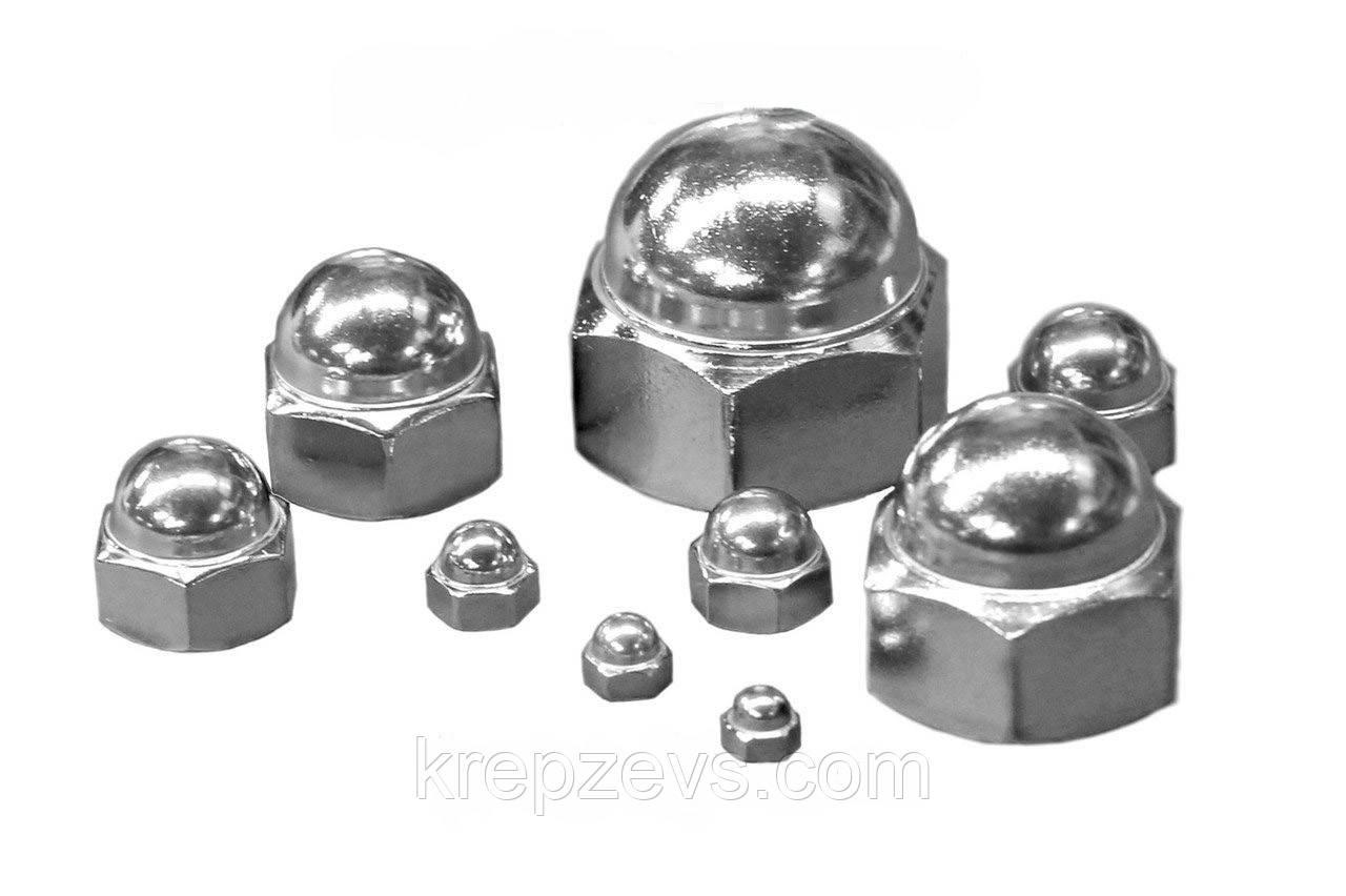 Гайки колпачковые М12 DIN 1587 из стали А4