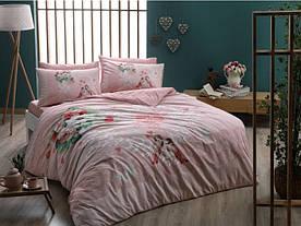 Постельное белье Tac Ranforce Tulin розовое полуторного размера