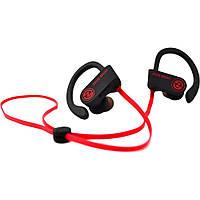 Наушники вакуумные с микрофоном беспроводные Zeus Sport Black / Red (6945545500230)