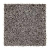 ХАМПЭН Ковер, длинный ворс, серый, 80х80, 90313011, IKEA, ИКЕА, HAMPEN