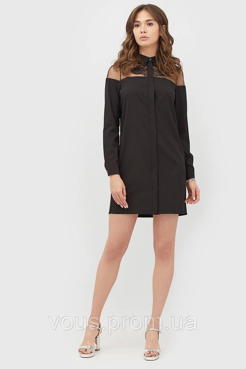 77335f3fd71 Элегантное комбинированное платье-рубашка - Интернет-магазин «Vous» в  Закарпатской области