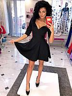 Платье клеш с отворотом на декольте