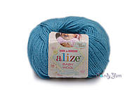 Alize Baby Wool, бирюзовый №245