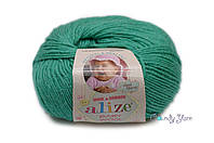 Турецкая пряжа Alize Baby Wool полушерсть изумруд №610