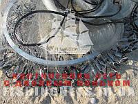 Кастинговая сеть из лески с двойным кольцом диаметром 6 м (парашют, намет)