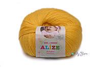 Турецкая пряжа Alize Baby Wool полушерсть желтый №216