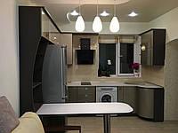 Кухня с глянцевыми крашеными фасадами МДФ, фото 1