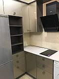 Кухня с глянцевыми крашеными фасадами МДФ, фото 4