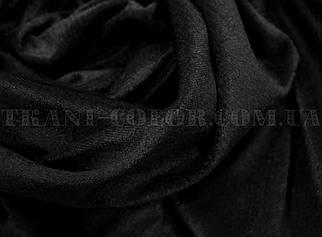 Велюр стрейчевый черный