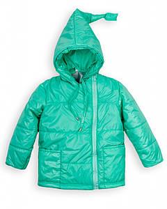 """Детская куртка """"Гномик"""" мята, розовая весна-осень 1-2, 2-3, 3-4, 4-5 лет"""
