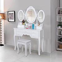 Туалетный столик с тремя зеркалами + табурет новый (Польша) НАЛИЧИЕ