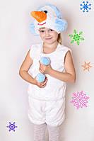 Детский Карнавальный меховой костюм Снеговик, снеговичок, костюмы новогодние, дропшиппинг  украина