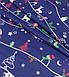 Новогодняя ткань польская олени, снеговики, елочки на синем №340, фото 4