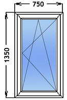 Окно Одностворчатое. Одно камерный стекло пакет. Профиль Windom ECO